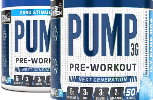 applied nutrition, pump 3g, pump, arginine, beta-alanine, caffeine, citrulline, creatine
